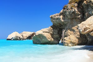 Beautiful Beach and rocks, Greece