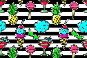 Stripe fashion seamless pattern