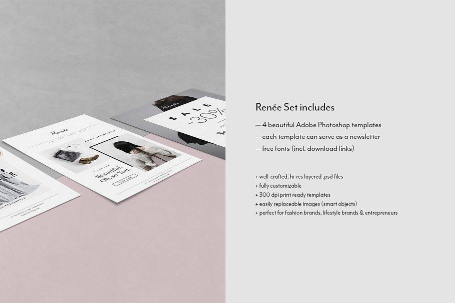 4 Fashion Postcard Flyers Rene Flyer Templates Creative