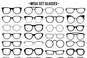 Many types of glasses