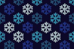 Decorative snowflakes.