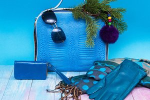 Blue Female accessories