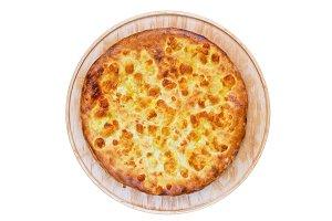 ossetian pie on a white