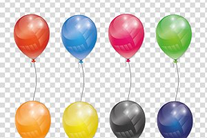 Transparent vector balloon