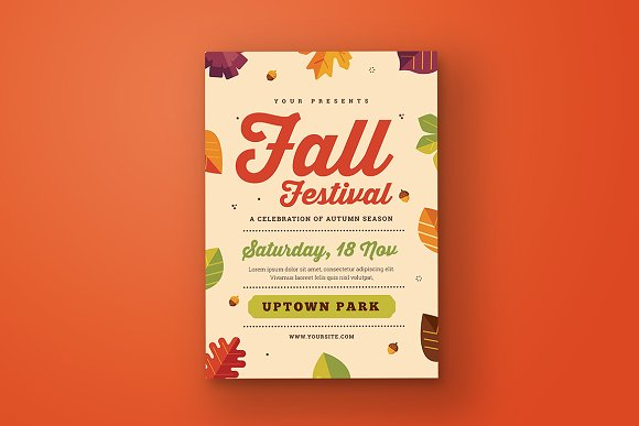 Fall Festival Flyer-Graphicriver中文最全的素材分享平台