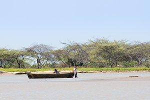 Traditional fishing canoe.