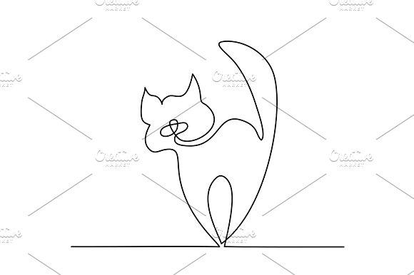 Cat silhouette logo