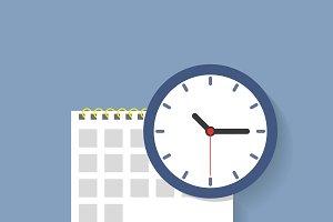 Calendar clock icon