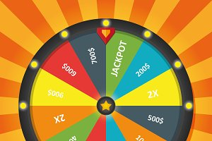 Color Lucky Wheel Template