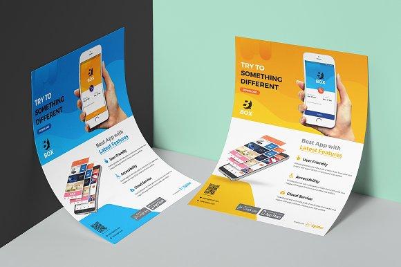 mobile app promotion flyer flyer templates creative market