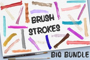 Paint Stroke Brushes - BIG BUNDLE