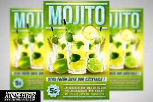 Mojito Cocktails Flyer Template