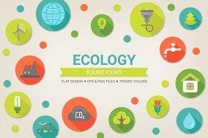 Round eco icons