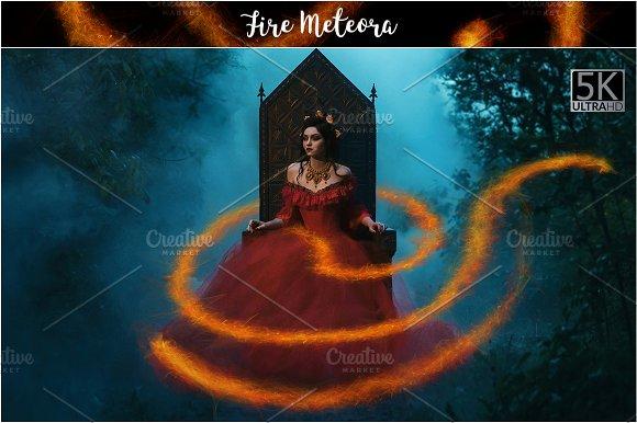 5K Fire Meteora Overlays-Graphicriver中文最全的素材分享平台