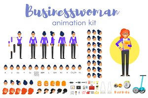 Businesswoman animation kit
