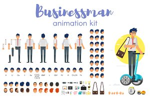 Businessman animation kit