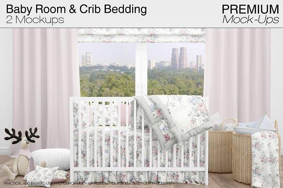 Baby Room & Crib Bedding Se-Graphicriver中文最全的素材分享平台