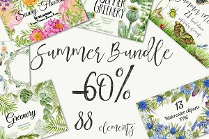 -60% Watercolor  Summer Bundle