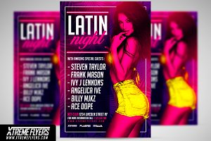 Latin Night Flyer Template