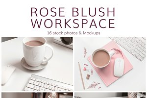 Rose Blush Workspace (16 Images)
