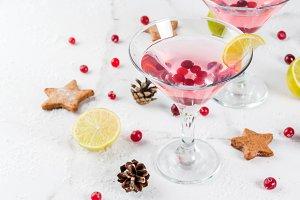 Festive cranberry martini