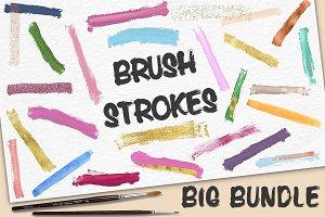 Handdrawn Brush Strokes BIG BUNDLE
