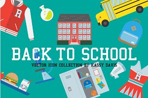 'Back To School' Vector Icon Set