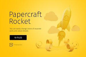 Papercraft rocket