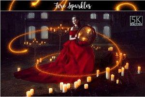 5K Fire Sparkles Overlays