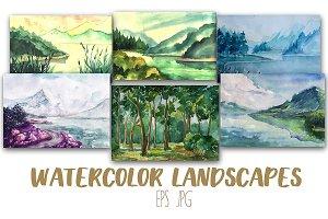 12 Artistic Watercolor  Landscapes