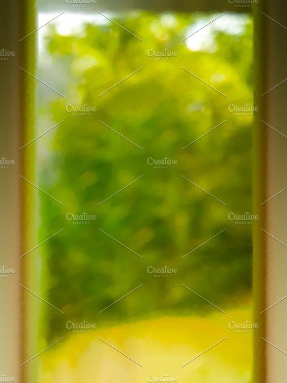 Vertical Doorway Into Summer Bokeh Illustration Background