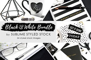 Black and White Bundle of 24 images