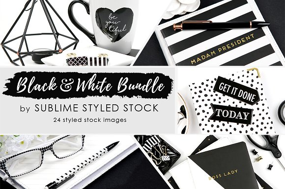 Black and White Bundle of 2-Graphicriver中文最全的素材分享平台