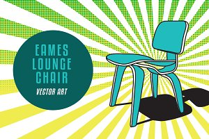 Eames Chair Vector Art