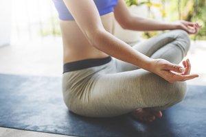 Woman pracrising yoga