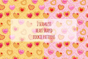 2 seamless Valentine's Day patterns