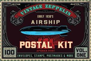 Vintage Zeppelin Postal Kit