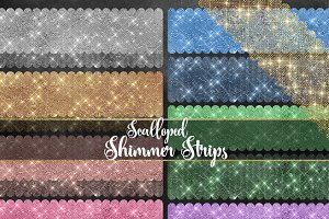 Scalloped Shimmer Strips