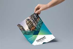 Company Annual Report Clean Design