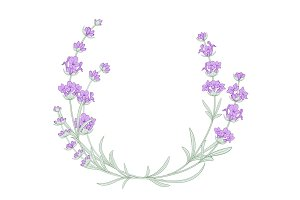 The lavender elegant wreath.