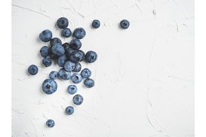 Blueberry background copy space