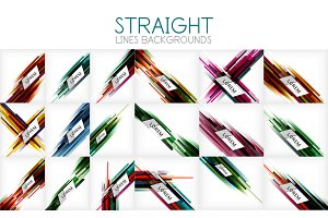 Vector mega collection of straight line abstract backgrounds and templates for your text