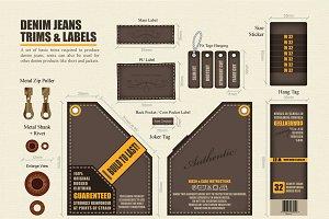 Denim Jeans Trims and Labels