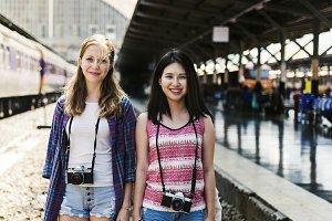Friends travel together