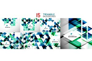 Set of geometric digital creative wallpapers