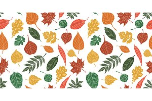 Seamless Autumn leaf background