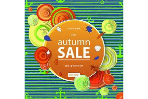 2 Autumn sale flyer template