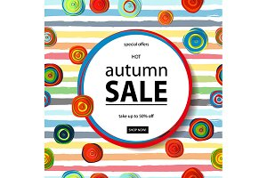 3 Autumn sale flyer template
