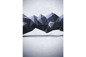Abstract polygonal line