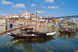 traditional port wine boats, Porto